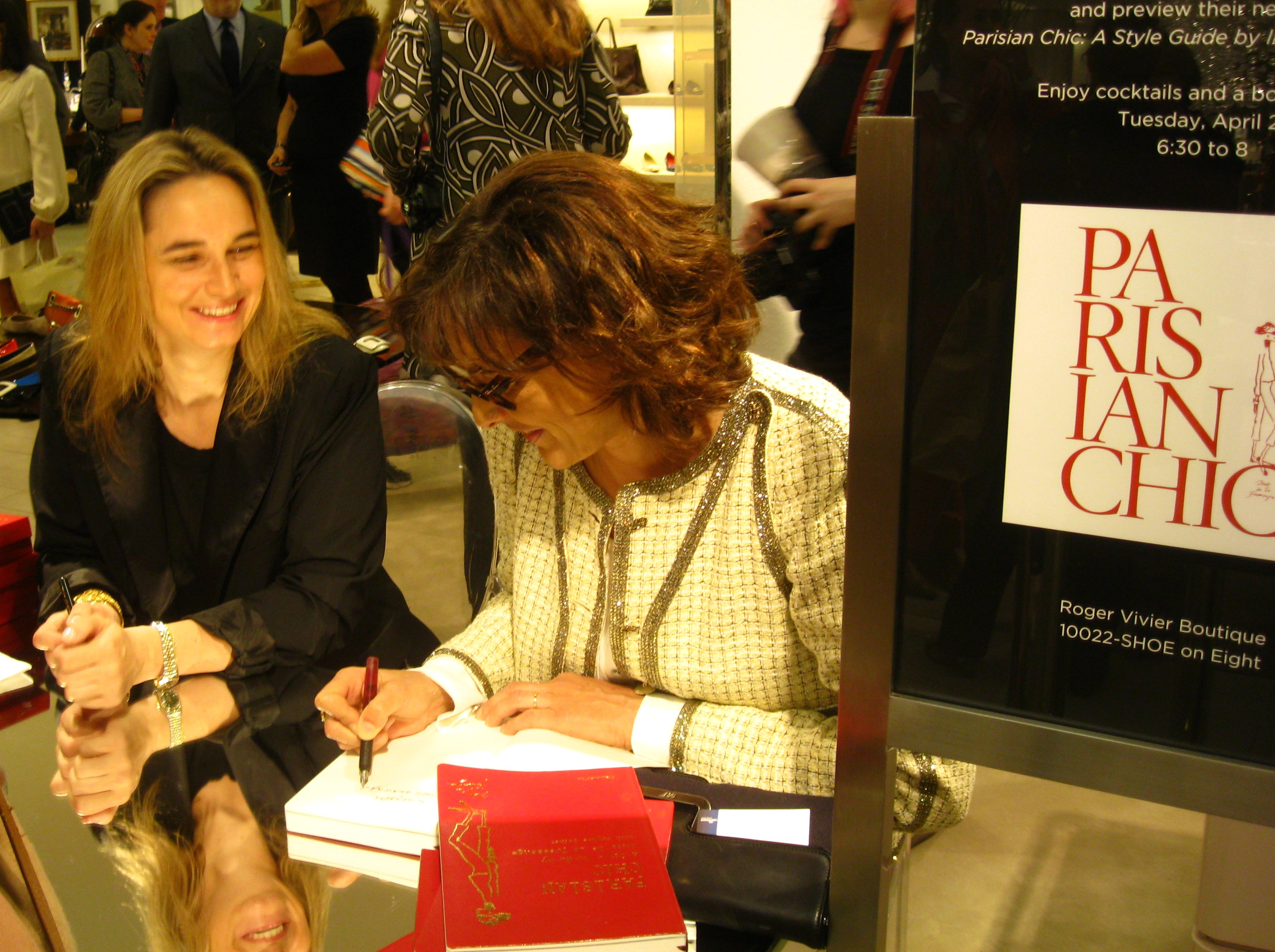 Parisian Chic book signing with Inès de la Fressange in New York ...