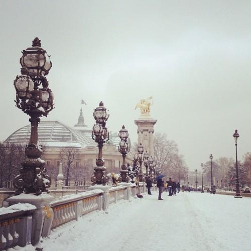 Paris neige Alexandre III