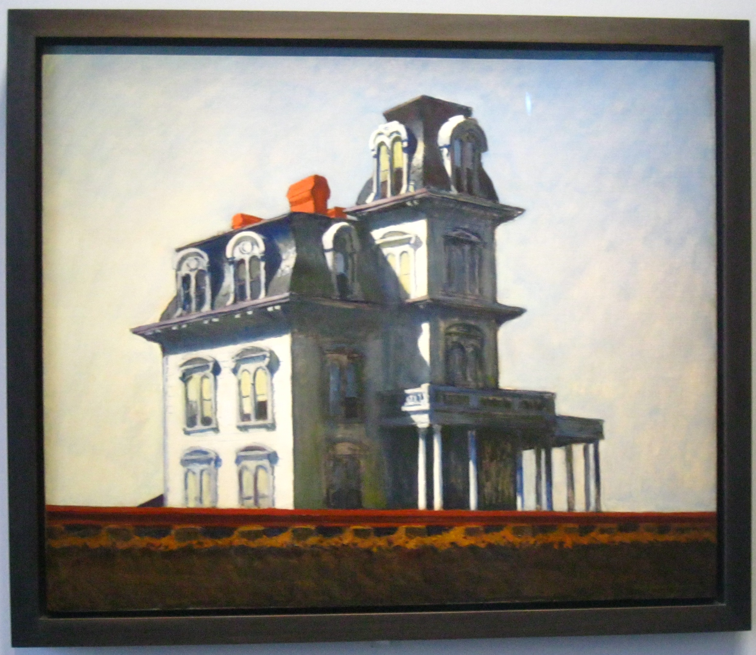 """house by the railroad House by the railroad, 1925 the bates mansion biographer gail levin revealed that hopper and his wife, jo, """"were delighted to learn that hitchcock credited the idea for the house in his film psycho to looking at house by the railroad """"."""