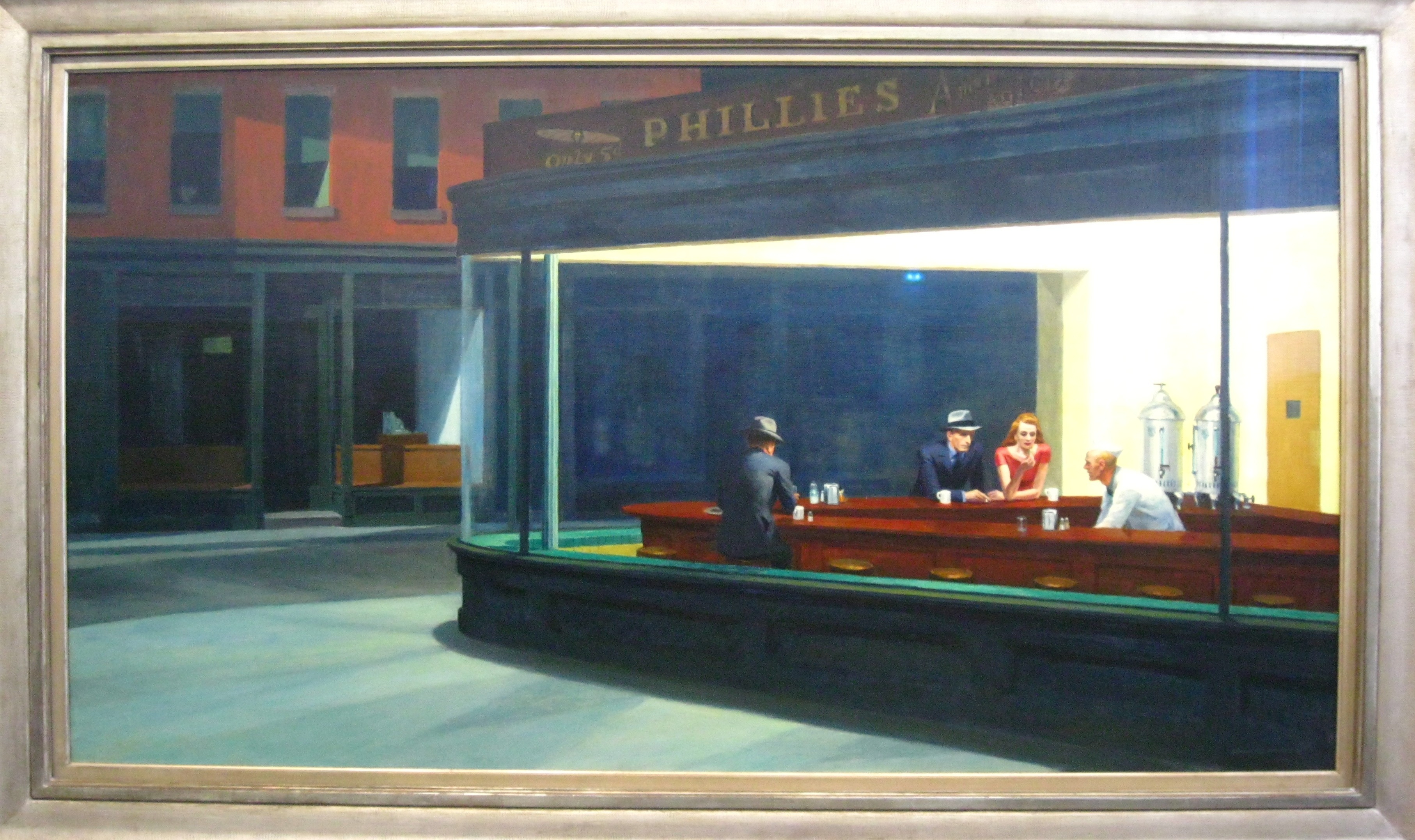 "edward hopper nighthawks Edward hopper said that nighthawks was inspired by ""a restaurant on new york's greenwich avenue where two streets meet,"" but the image—with its carefully constructed composition and lack of narrative—has a timeless."