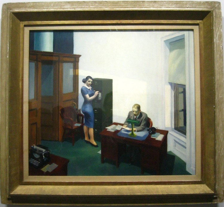 Edward Hopper Office at Night
