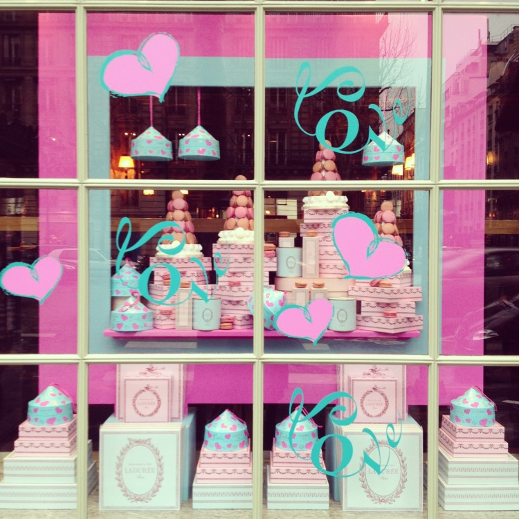 Ladurée window Valentine