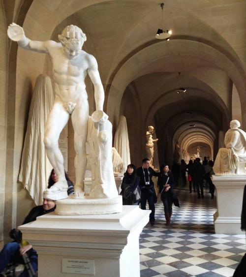 Versailles Antique Chateau couloir disque