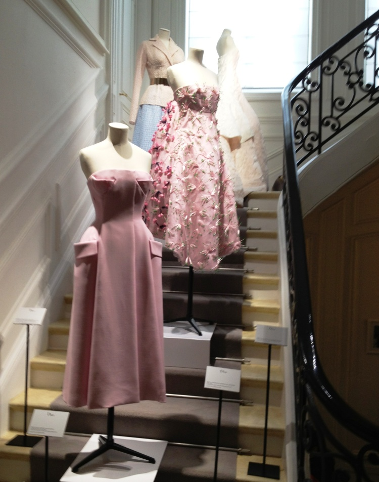 Dior stairs pink gowns