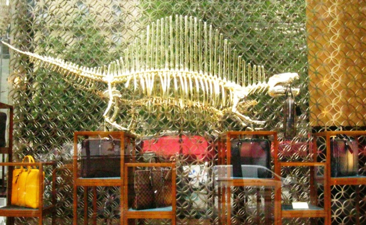 Louis Vuitton dinosaur window 1