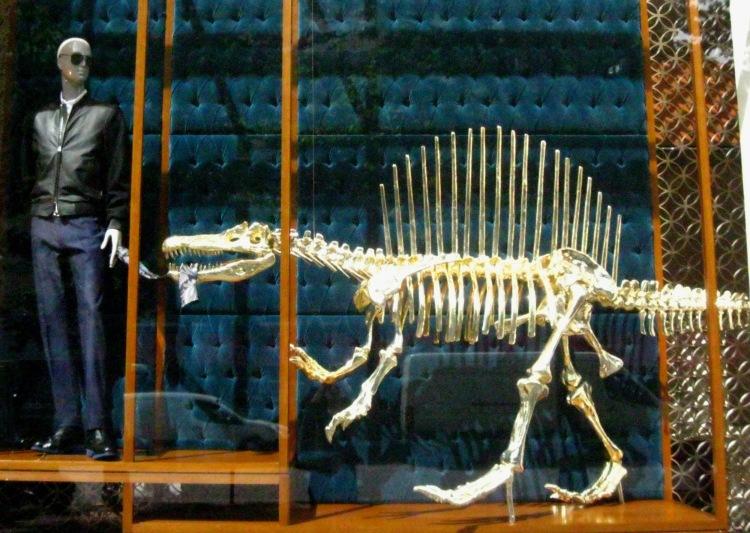 Louis Vuitton dinosaur window 2