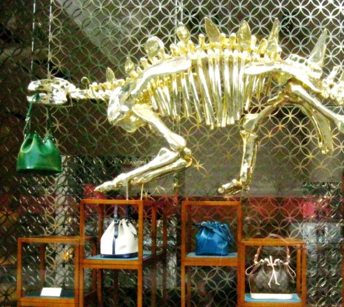 Louis Vuitton dinosaur window 3