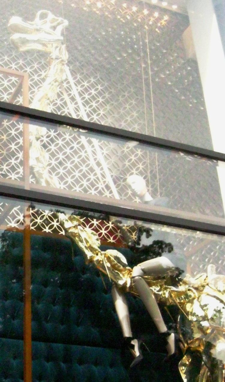 Louis Vuitton dinosaur window 5 left detail