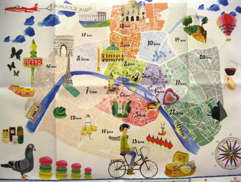 Merci Paris map city