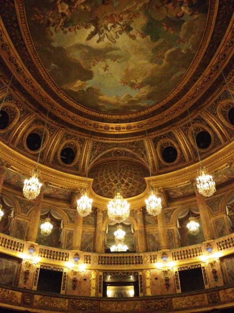 Versailles opera view from stage ceiling