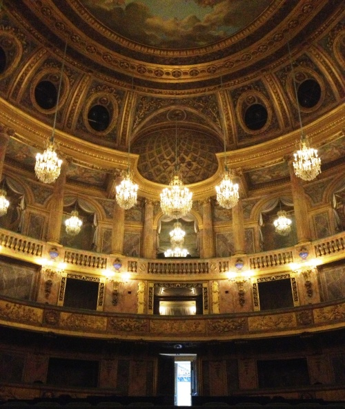 Versailles opera view from stage