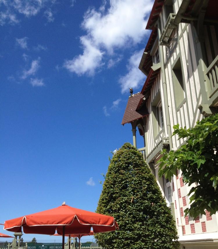 Hotel Normandy Deauville terrace