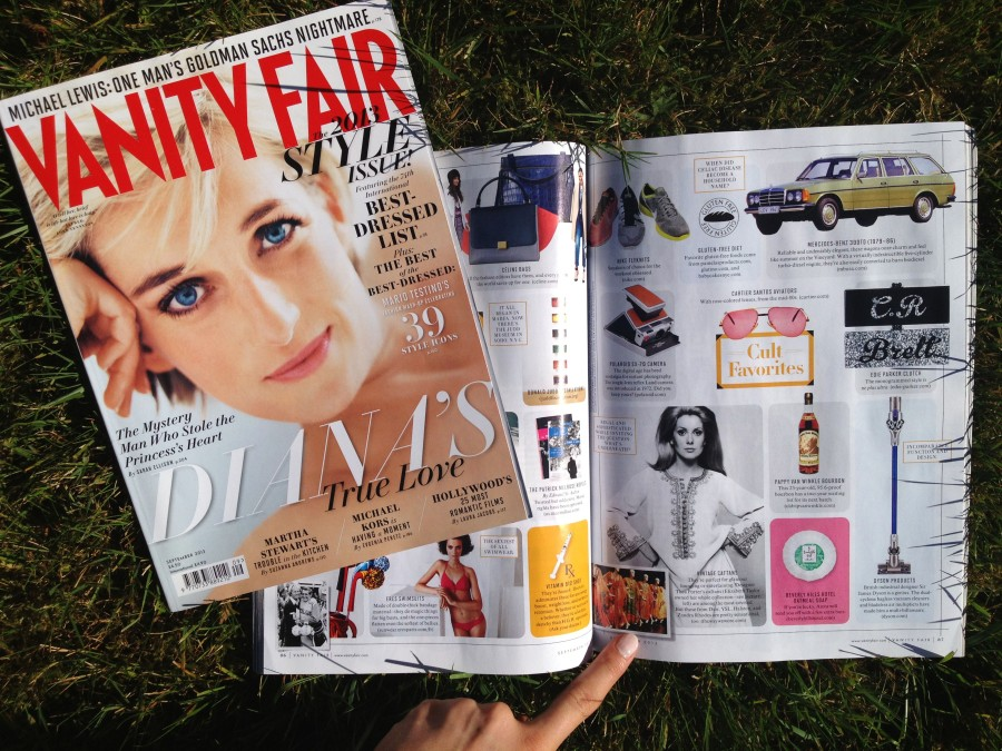 Vanity Fair September 2013 cult favorites