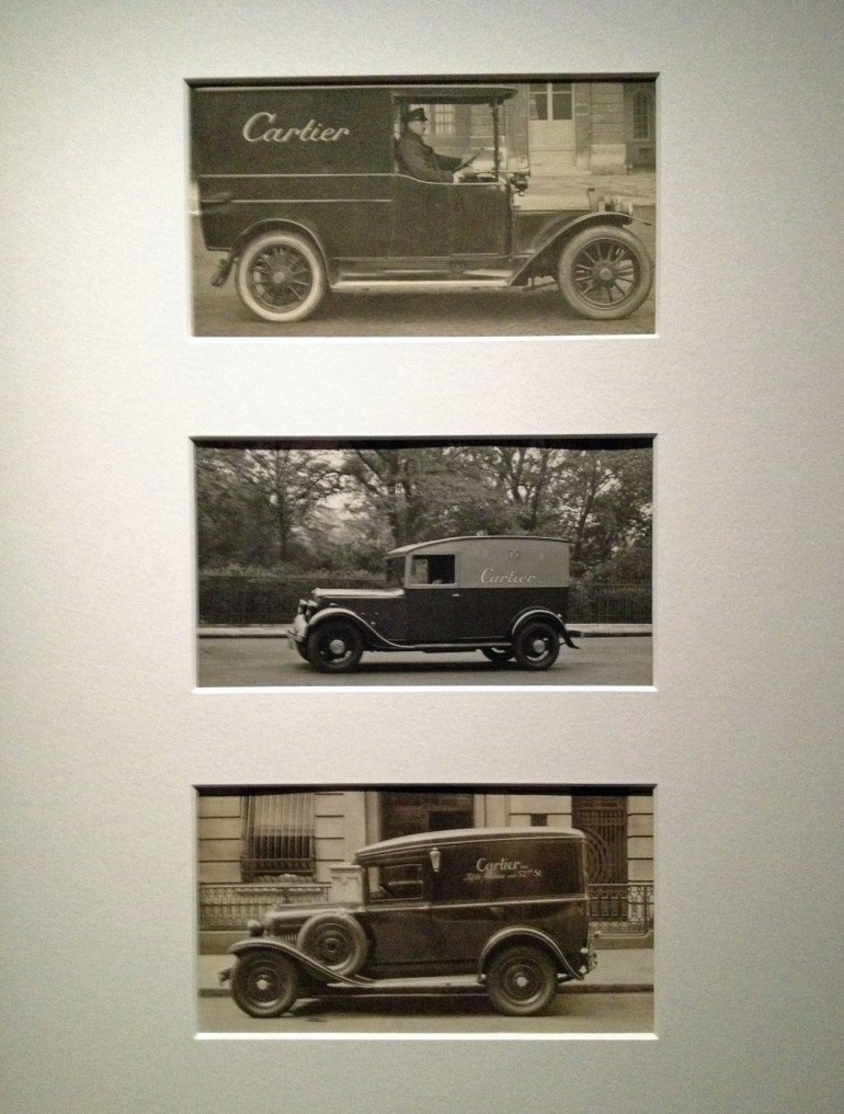 Cartier Grand Palais delivery cars