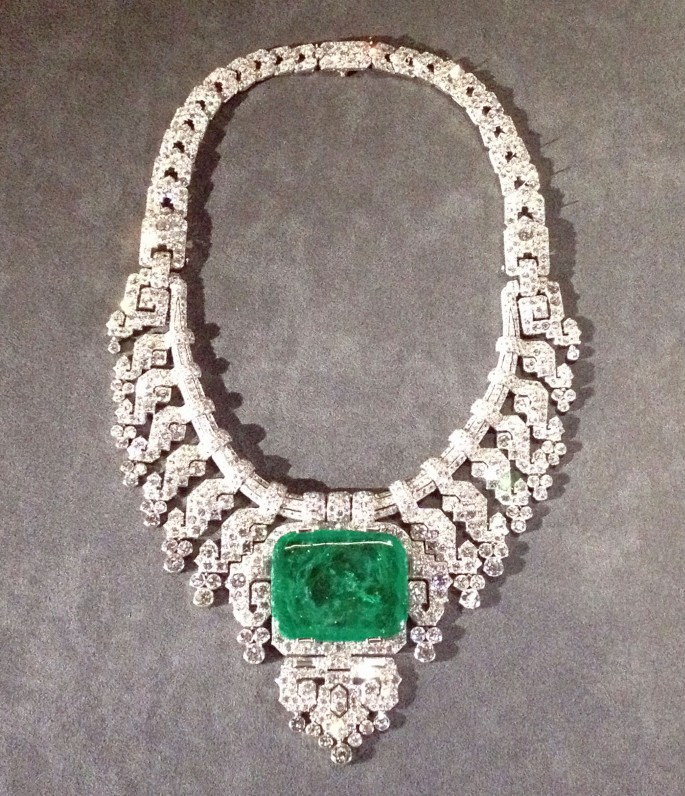 Cartier Grand Palais emerald diamond necklace
