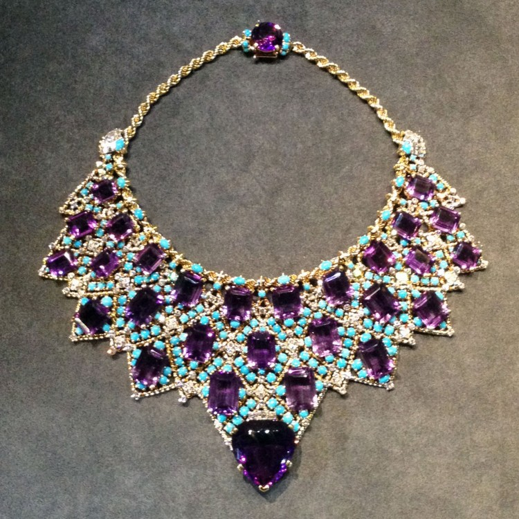 Cartier Grand Palais purple necklace