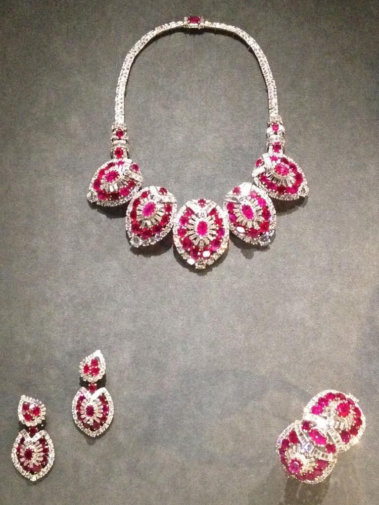 Cartier Grand Palais ruby set