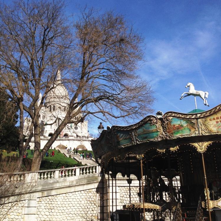 Montmartre Sacré Coeur carousel