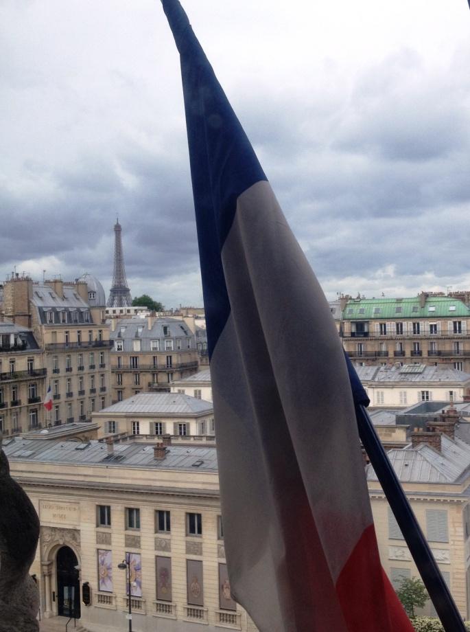 French flag Eiffel Tower