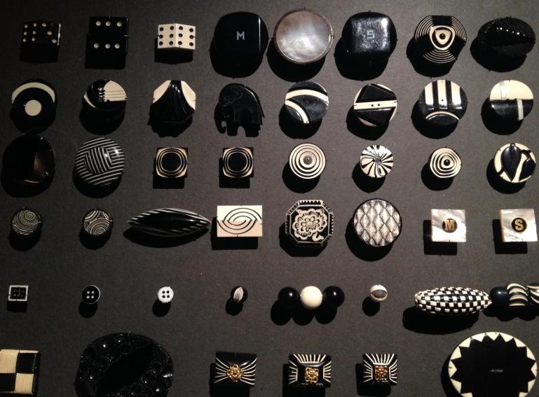 Arts Décos Boutons noir blanc