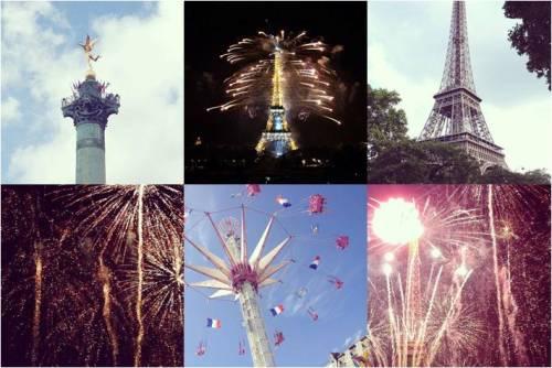 Bastille Day fireworks Eiffel Tower