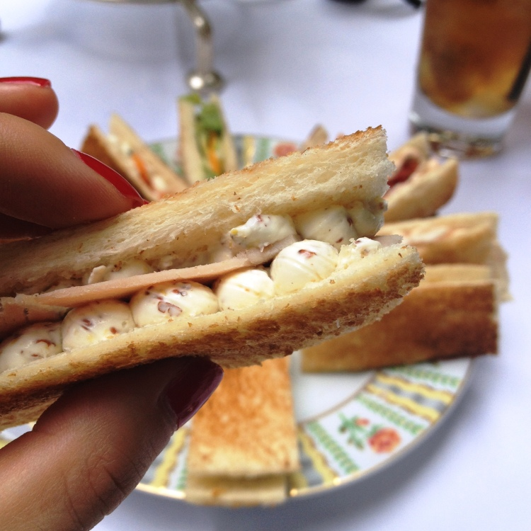 Four Seasons George V Afternoon Tea sandwiches detail