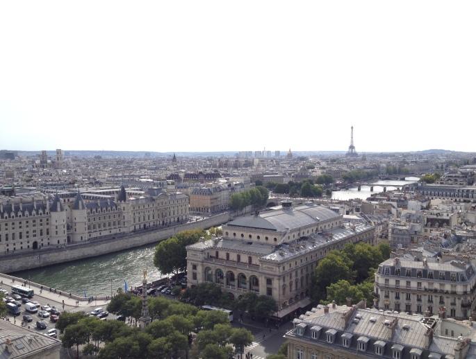Paris Eiffel Tower view Tour Saint Jacques