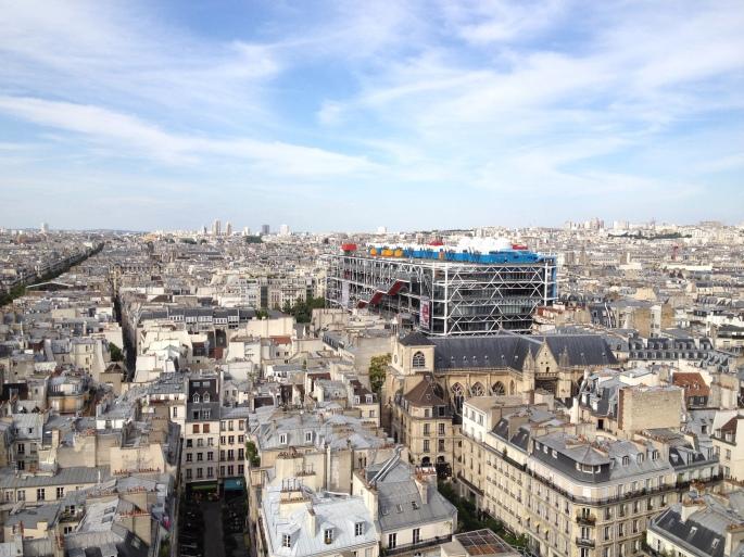 Paris Pompidou Tour Saint Jacques