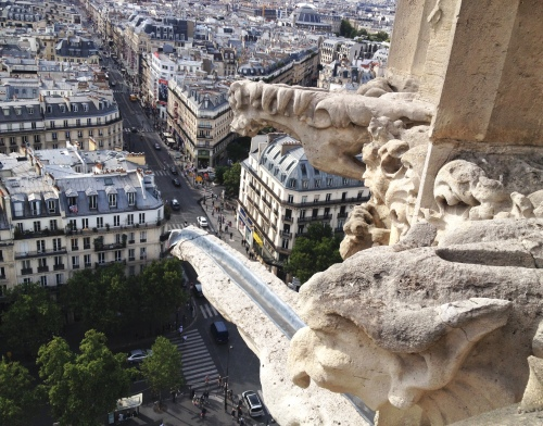 Tour Saint Jacques gargoyles