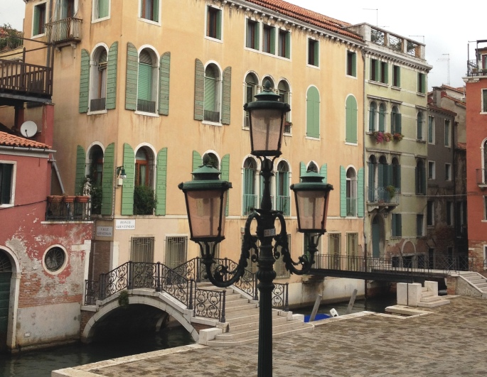 Venice lamp bridge