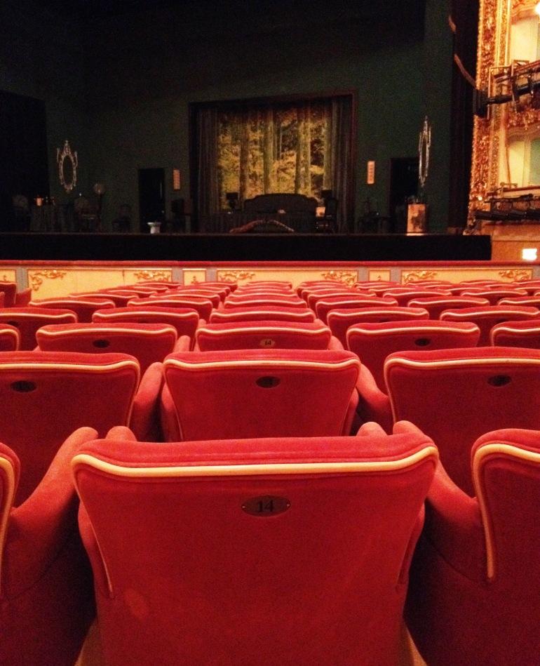 La Fenice Venice seats stage