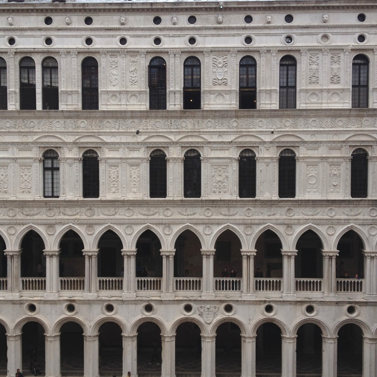 Venice Palazzo Ducale courtyard arch