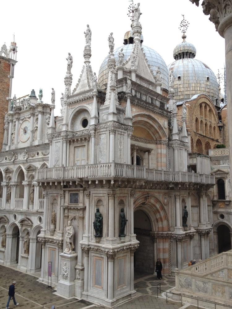 Venice Palazzo Ducale courtyard Saint Mark Basilica
