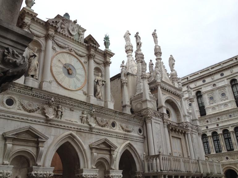 Venice Palazzo Ducale Piazza clock