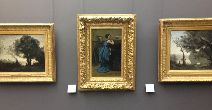 Louvre Lady in Blue
