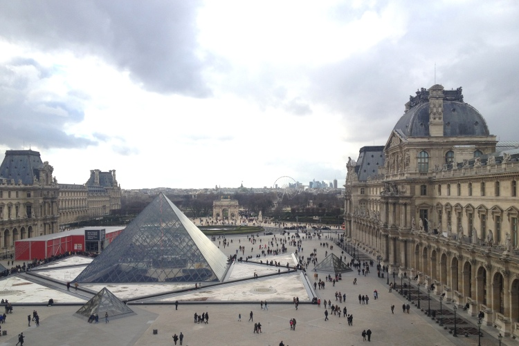 View from Louvre on Pyramid