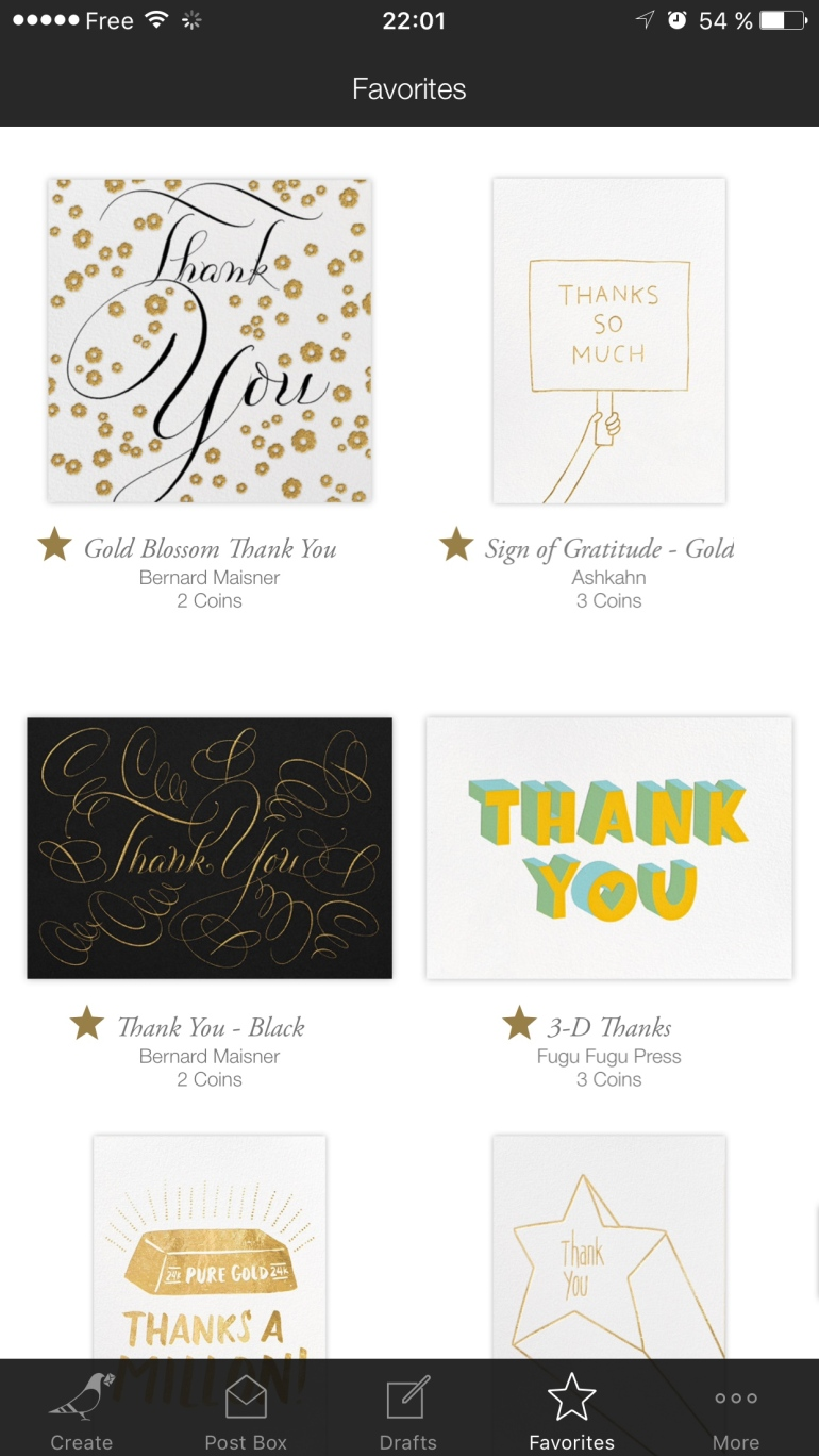 Paperless Post thank you cards